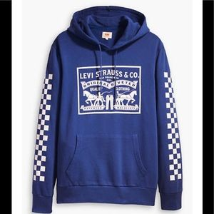 LEVI'S PULLOVER SMALL COTTON HOODIE NEW